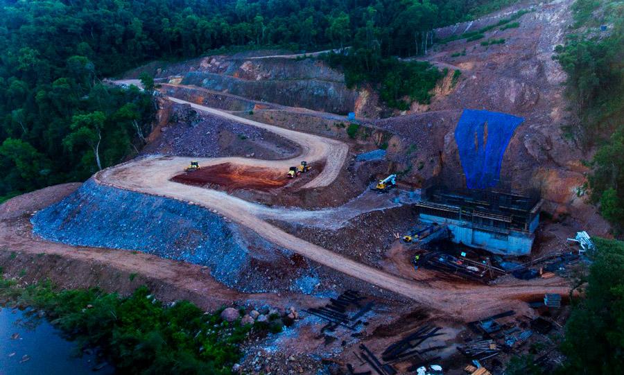 小型水力发电厂Salto do Guassupi